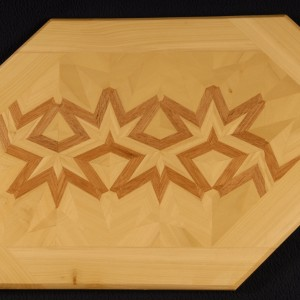 Simple Standard Linear Lamination in mahogany and poplar. 180/1-45/60A/30D