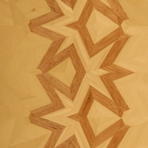 Simple Standard Linear Lamination in mahogany and poplar.