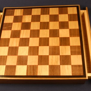 24 inch by 24 inch chess board with drawers